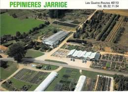 VAYRAC 46 - Ets JARRIGE Espaces Verts - Les 4 Routes ( Vue Aérienne Jardinerie Pepinières ) CPSM GF - Lot - Vayrac