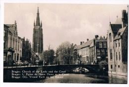 31032 ( 2 Scans )brugge  O L Vrouw Kerk En Het Kanaal - Brugge