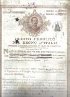 Debito Pubblico Del Regno D'italia 1907 Certificato Ben Conservato Cod.doc.099 - Documenti Storici