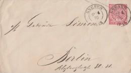NDP GS-Umschlag 1 Gr. Nachv. St. Gnesen 21.4.70 Gel. Nach Berlin - Norddeutscher Postbezirk