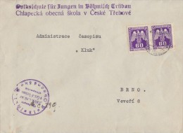 Böhmen Und Mähren Dienstbrief Mef Minr.2x D16 - Böhmen Und Mähren