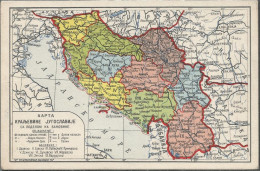 JUGOSLAWIEN, MAPA, PC, Circulated - Jugoslawien