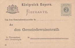 Bayern Ganzsache Minr.DPB1/02 Postfrisch - Bayern