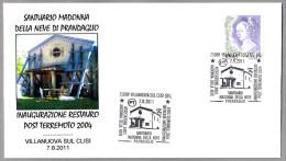 TERREMOTO DE 2004. Restauracion Santuario Madonna. 2004 earthquake. Villanuova sul Clisi 2011