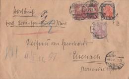 DR Wertbrief Mif Minr.115,146,153 Münster 9.2.22 - Germany