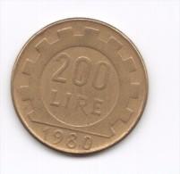 200 Lire 1980 (Id-426) - 1946-… : Republic