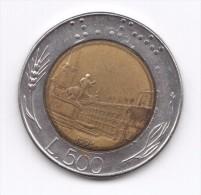 500 Lire 1991 (Id-431) - 1946-… : República