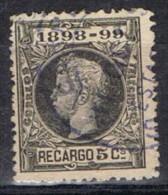 Sello 5 Cts Alfonso XIII Impuesto De Guerra 1898,  Num 240 º - Impuestos De Guerra