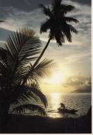 Coucher Du Soleil Sur Moorea - Polynésie Française