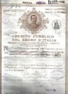 Debito Pubblico Del Regno D'italia 1907 Certificato Ben Conservato Cod.doc.102 - Documenti Storici