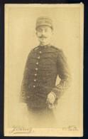 Photo CDV  Photographe Pervez  Nante-- Fin 19ème-  Albuminée  -- Officier Militaire Avec épée Du 81 ème --  Mars Phot7-3 - Anciennes (Av. 1900)