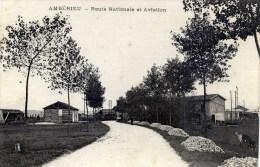 01 AMBERIEU Route Nationale Et Aviation - Autres Communes