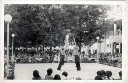 QUARTET DALLEROS - Original Fotokarte Zirkus, Freiluft Vorführung 1930?, Balance-Akt - Zirkus