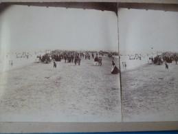 Photo Stéréo Vers 1880. Aude Plage De Port La Nouvelle - Plaatsen