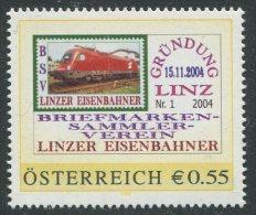 ÖSTERREICH / PM Nr. 8003192 / BSV Linzer Eisenbahner Nr. 1 Gründung / Postfrisch - Personalisierte Briefmarken