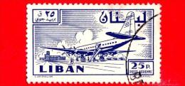 LIBANO - Usato - 1958 - Paese E Progresso - Aereo E Aeroporto - 25 - P. Aerea - Libano
