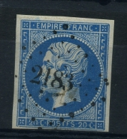 N 14A Ob Pc2183 Variété Poste F - 1853-1860 Napoléon III.