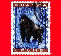 RWANDA-URUNDI - Usato -  1959 - Animali Protetti - Scimmie - Gorilla - 1 - Ruanda