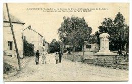 GOUTTIERES - Le Bureau De Poste, Le Bourg, La Route De St Julien. Le Monument Aux Morts... Ed. Michel - Otros Municipios