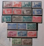 "E001- ANDORRA - 1944-49 "" Stemma E Vedute Serie Cmpl "" MNH - Nuovi"