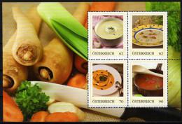 ÖSTERREICH 2014 ** Suppen Spezialitäten (Block 1) - PM Personalized Stamps MNH - Ernährung