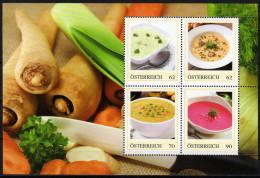 ÖSTERREICH 2014 ** Suppen Spezialitäten (Block 2) - PM Personalized Stamps MNH - Ernährung