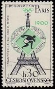 CZECHOSLOVAKIA - Scott #1297 Czechoslovakia's Olympic Medal, Throwing The Discus Paris 1900  / Used Stamp - Summer 1900: Paris