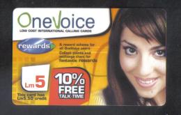 MALTA - ONE VOICE PHONECARD  LM5 USED - Malta