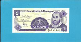 NICARAGUA - 1 Centavo - ND ( 1991 )  - P 167 - UNC. - Serie A/C - 2 Scans - Nicaragua