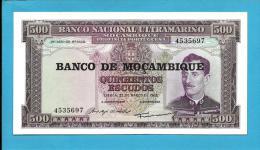 MOZAMBIQUE - 500 ESCUDOS - ND (1976 - Old Date 22.03.1967 ) - UNC - P 118 - 7 Digits - CALDAS XAVIER - PORTUGAL - Mozambique