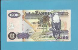 ZAMBIA - 100 KWACHA - 2005 - P 38.e - Sign. 12 - UNC. - Fish Eagle - 2 Scans - Zambie
