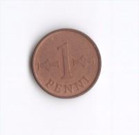 1 Penni Finlandia Suomi Finland 1963 (Id-225) - Finlandia