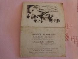Calendrier 1941-decor Chien-blanpin Dentiste Paris- - Calendars