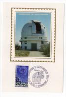 1970--Carte Maximum-Soie-Observatoire De Haute-Provence-CNRS--cachet  SAINT MICHEL--04 - Cartes-Maximum