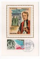 1970--Carte Maximum-Soie-PELLETIER Et CAVENTOU-découverte De La Quinine--signée Chesnot-cachet  PARIS--75 - Cartes-Maximum
