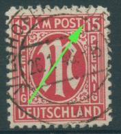 Bizone 1945 Am. Druck Mit Plattenfehler 8z F 56 B, Papier Z Gestempelt (R7657) - Bizone