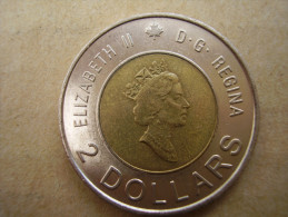 CANADA 1996TWO DOLLARS Bi-mettalic COIN Aluminium-bronze With Center In Nickel USED. - Canada