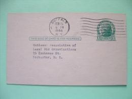 USA 1944 Stationery Buffalo To Rochester New York - Jefferson - Etats-Unis