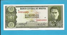 BOLIVIA - 10 Pesos Bolivianos - L. 1962 - P 154 - UNC. - Serie S3 - See Sign. - 2 Scans - Bolivien