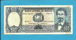 BOLIVIA - 500 Pesos Bolivianos - L. 1981 - P 166 - Serie C - See Sign. -  2 Scans - Bolivia