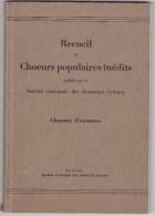 Choeurs Populaires Inédits - Berne Chanteurs Bernois - Culture
