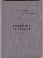 Règlement De Servie - Armée Suisse 1954 - Culture