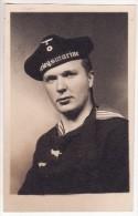 Carte Postale Photo Militaire Allemand Marin- Marine - Kriegsmarine - Bâteau-Schiffe-Guerre 1939-1945- VOIR 2 SCANS - - Guerre 1939-45