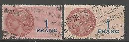 FISCAL  N° 118 ET 118a FOND ORANGE PALE  OBL - Steuermarken