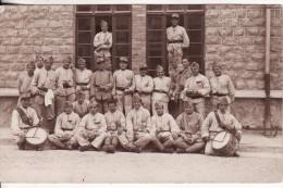 Carte Postale Photo Militaire 106 ème Régiment Infanterie CHALONS-SUR-MARNE Photo Boullangez Reims MUSIQUE-Tambour - Châlons-sur-Marne
