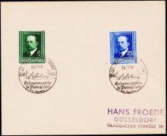 1940. Emil V. Behring 6+4 + 25+10 Pf. LEVERKUSEN J.G. WERK 06.12.40. (Michel: 760-761) - JF175869 - Allemagne