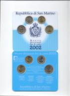 SAN MARINO - 2 € - 1€ - 0,50 E 0,20 CENT. 2002 KIT MONETE FIOR DI CONIO - San Marino
