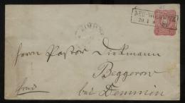 S2697 DR Pfennig GS Umschlag: Gebraucht Neu Wolkwitz - Beggerow Demmin 1881, Bedarfserhaltung. - Deutschland