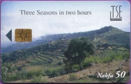 Télécarte °° ERYTHRÉE - Nafka  50b - Three Seasons In Two Hours ***** Première Carte De Ce Pays  ***   LUXE - Eritrea