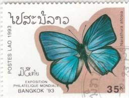 Laos - 1 Val. Used  Farfalle - Butterflies